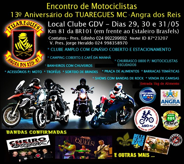 13º Aniversario do Tuaregues Moto Clube