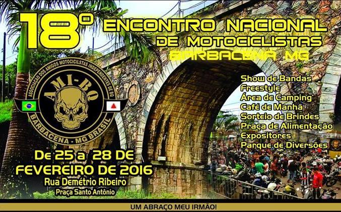 Encontro Nacional de Motociclista em Barbacena/MG – 18ª edição